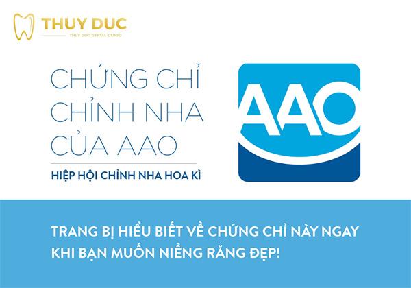 Chứng chỉ chỉnh nha của AAO – Hiệp hội chỉnh nha Hoa Kỳ 1