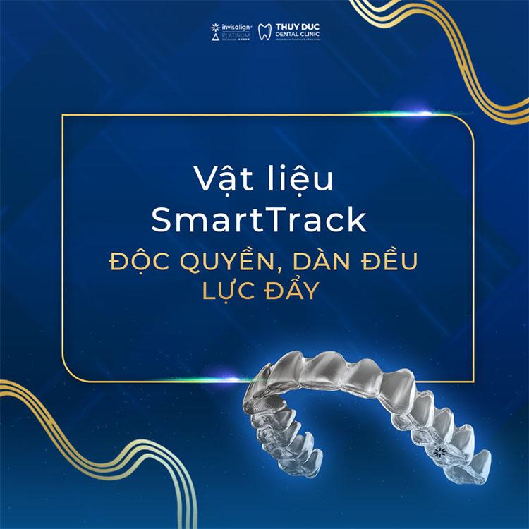 Vật liệu làm nên máng chỉnh nha trong suốt là SmartTrack® 1