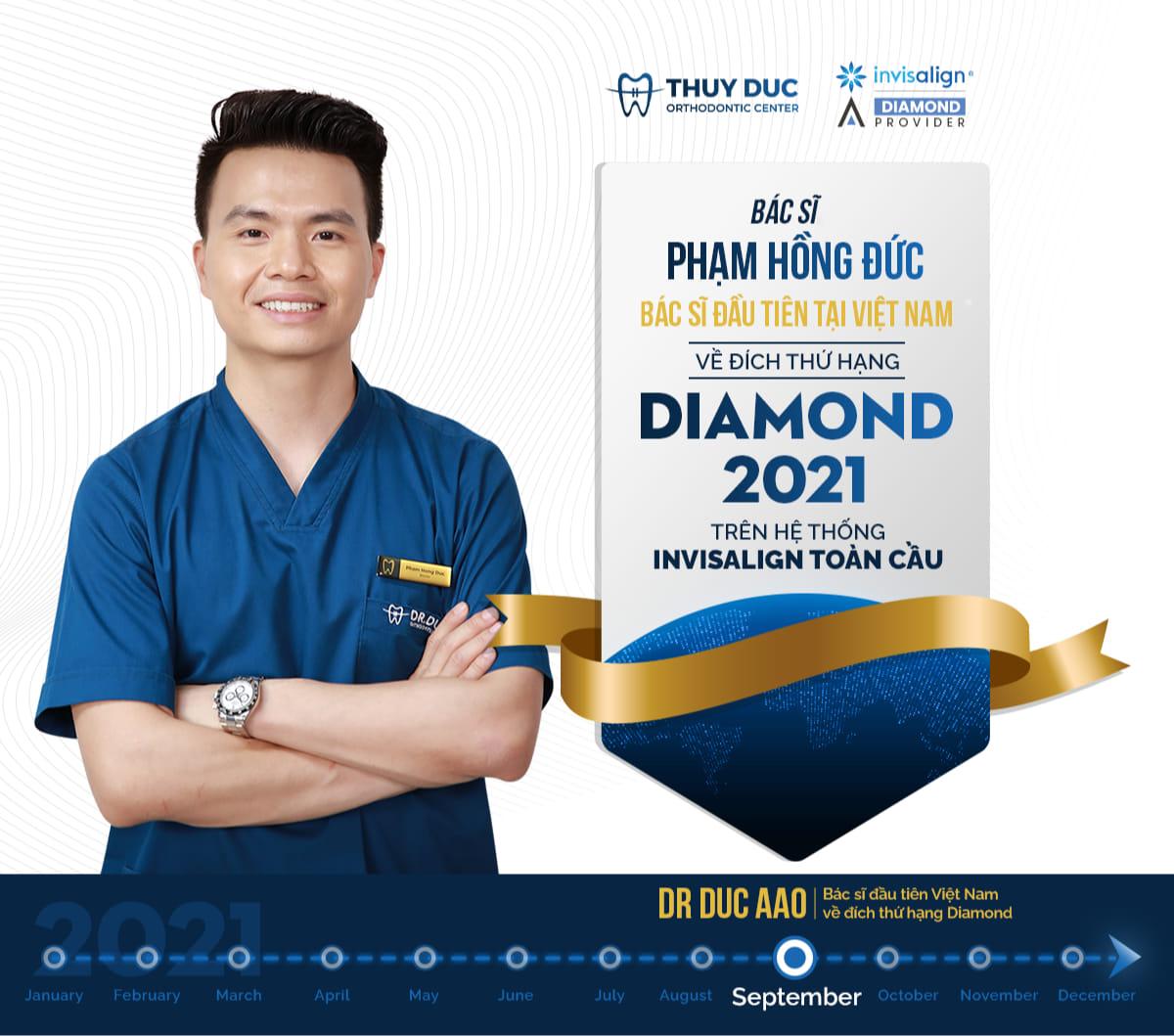 Bác sĩ Phạm Hồng Đức được hãng Invisalign công bố là bác sĩ đầu tiên của Việt Nam đạt thứ hạng Diamond 2021 1